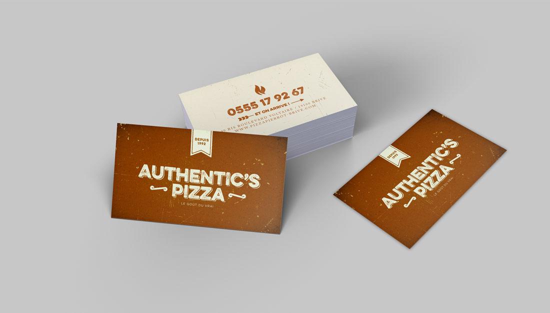 Authentic's Pizza carte de visite