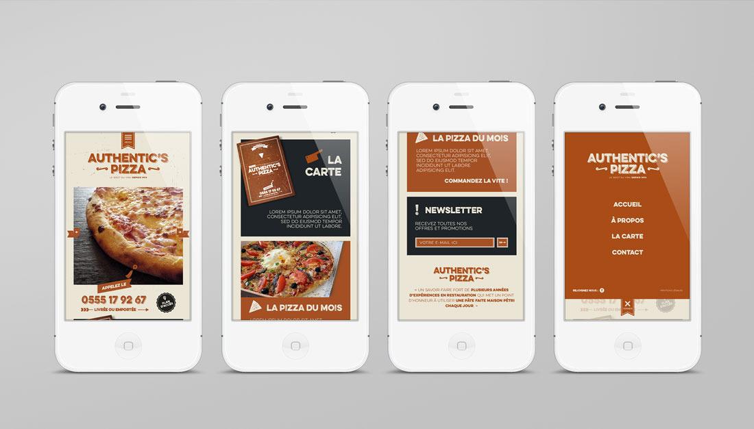 Authentic's Pizza responsive design