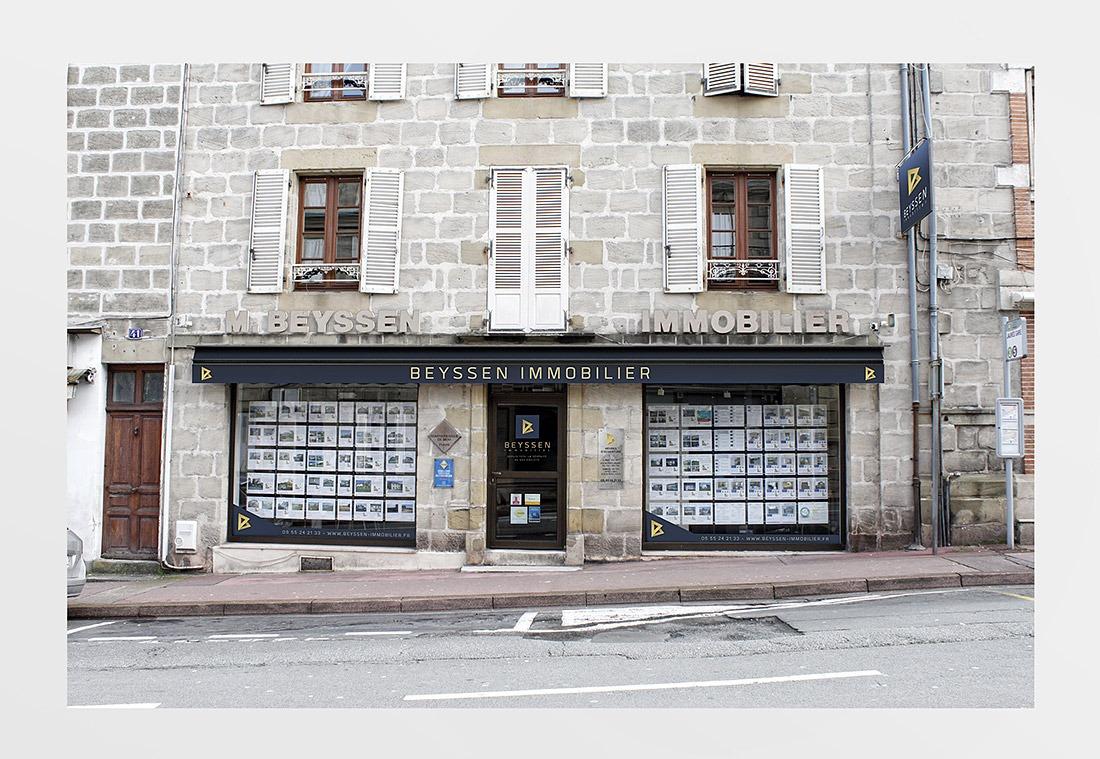 Marquage de façade - Beyssen Immobilier