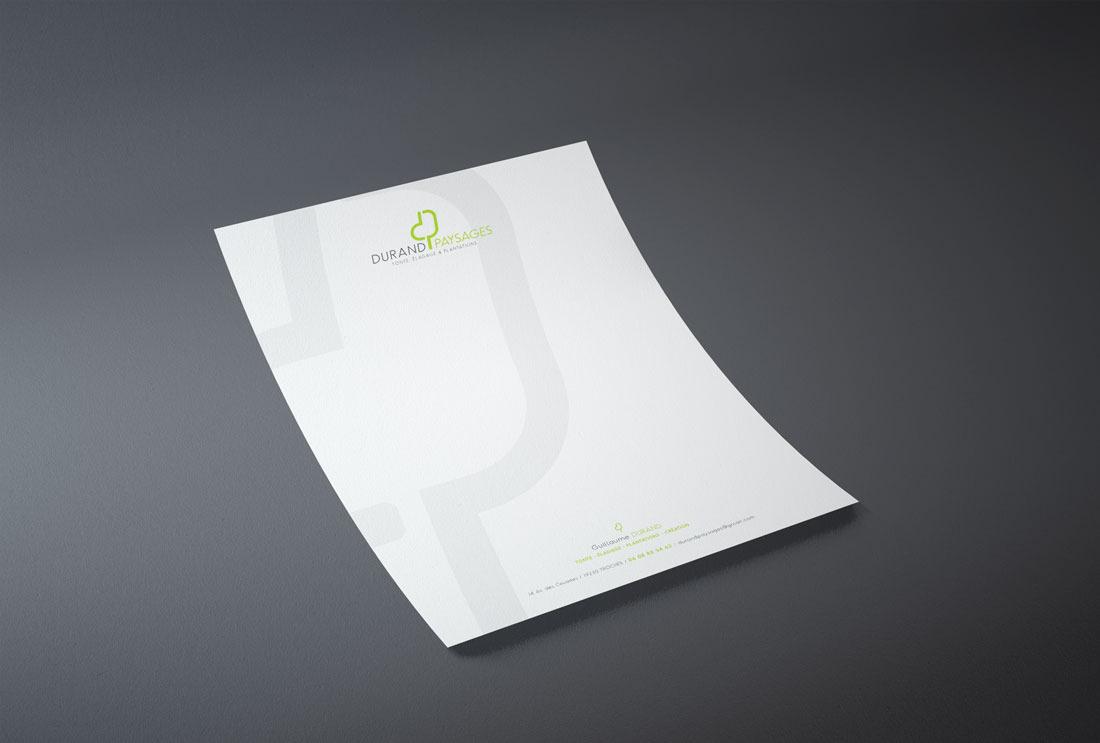 Durand Paysages Papier à lettre