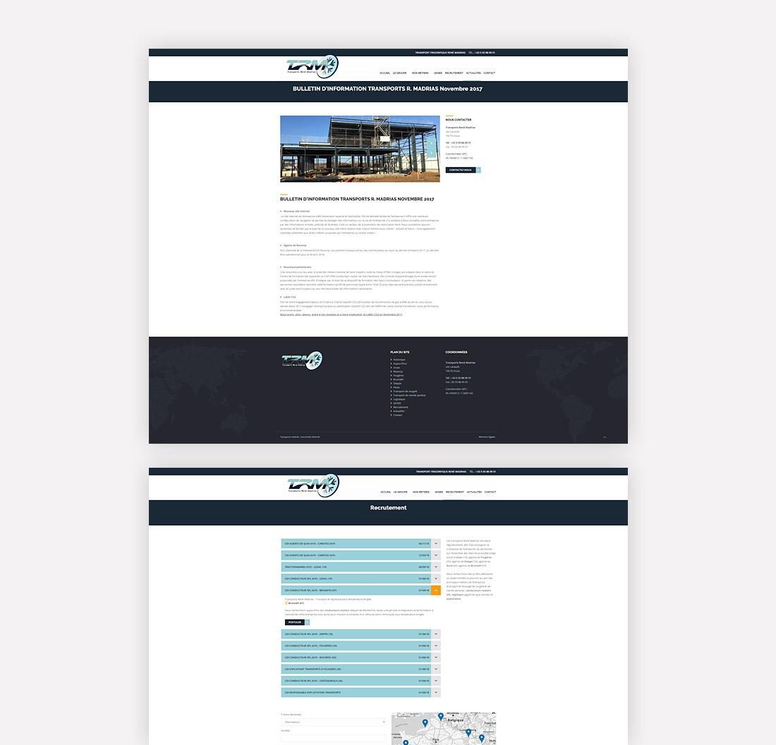 Transports Madrias site internet