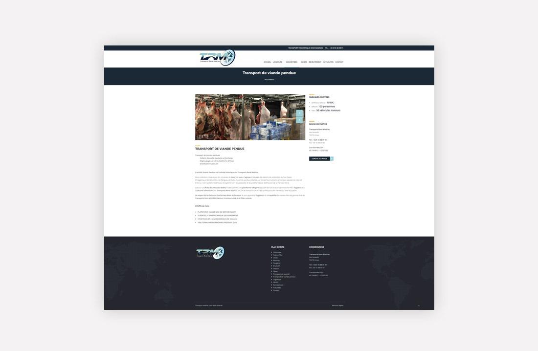 Transports Madrias webdesign